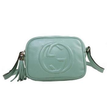 gucci 308364. gucci 308364 soho light blue leather disco bag