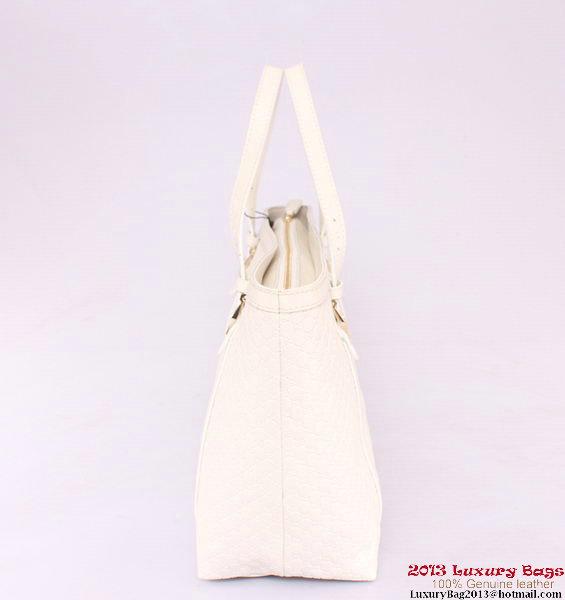 Gucci Nice Guccissima Leather Tote Bag 309613 White