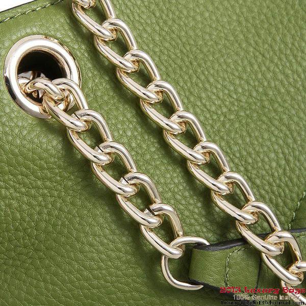 Gucci Soho Medium Tote Bag Calfskin 308982 Light Green