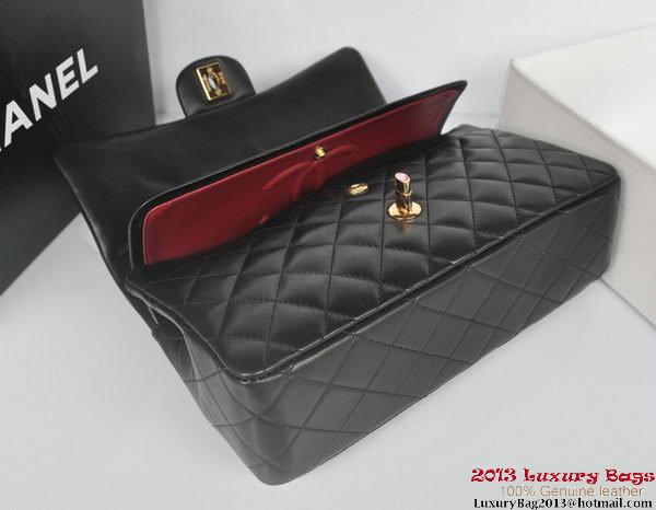Chanel 2.55 Series Classic Flap Bag Black Original Sheepskin Leather A1112 Multicolour