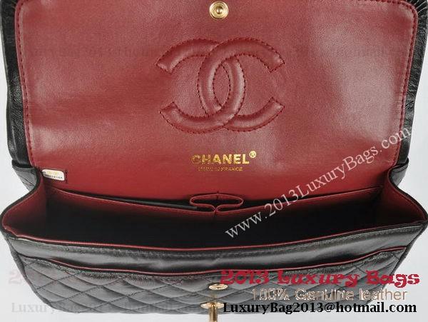 Chanel 2.55 Series Classic Flap Bag Black Sheepskin Leather 1112 Multicolour