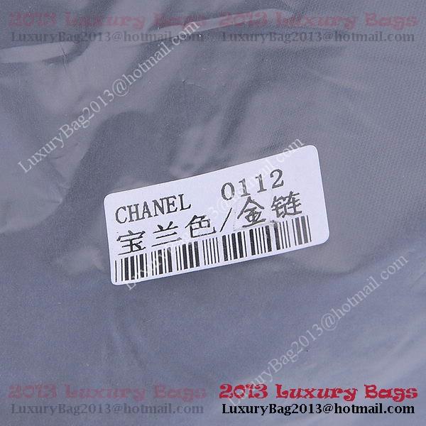 Chanel 2.55 Series Classic Flap Bag 1112 RoyalBlue Sheepskin Gold