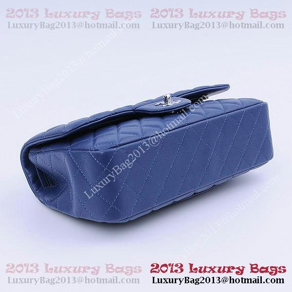Chanel 2.55 Series Classic Flap Bag 1112 RoyalBlue Sheepskin Silver