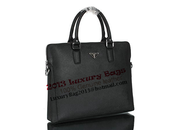 PRADA Saffiano Calf Leather Tote Bag 93181 Black