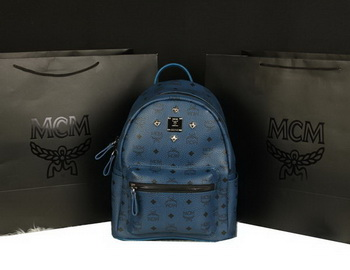 MCM Stark Backpack Large in Calf Leather 8004 RoyalBlue