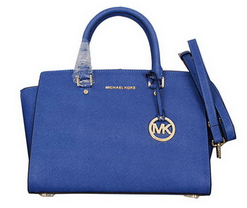 Michael Kors Selma Top-Zip Satchel Bag 8700 RoyalBlue