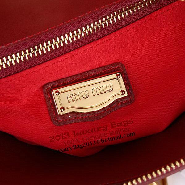 Miu Miu Shiny Calf Top Handle Bag