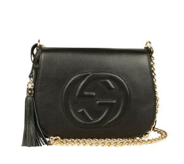 gucci clutch. gucci broadway calf leather hard case clutch 323191 black c
