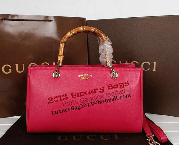 Gucci Bamboo Tote Bag Original Calf Leather 323660 Rose