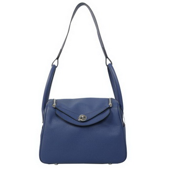 Hermes Lindy 30CM Havanne Shoulder Bag RoyalBlue