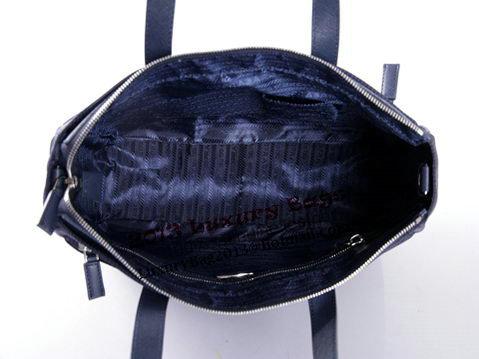 PRADA Tessuto Canvas Tote Bag VA0632P Dark Blue