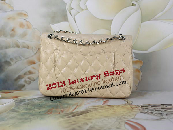 Chanel 2.55 Series Classic Flap Bag 1112 Apricot Original Cannage Pattern Leather Silver