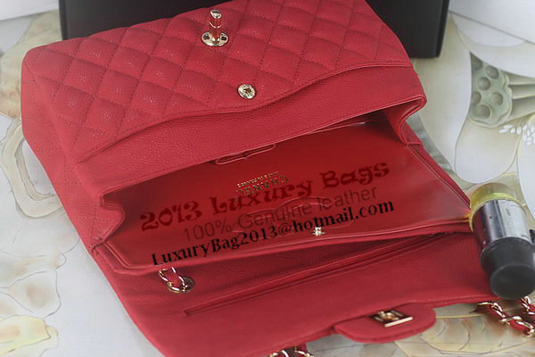 Chanel 2.55 Series Classic Flap Bag A01112 Red Original Nubuck Cannage Pattern Leather Gold