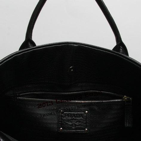 Prada Grainy Calf Leather Briefcase VR0025 Black
