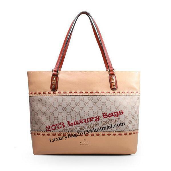 Gucci Laidback Crafty Canvas Tote Bag 339000 Beige