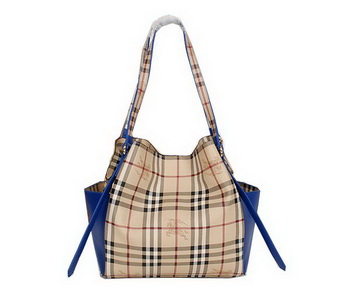 BurBerry Small Original Haymarket Check Tote Bag B8885 RoyalBlue
