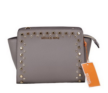 Michael Kors MK1879 Grey Mini Selma Messenger Bag