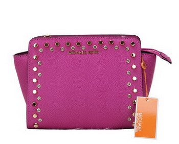 Michael Kors MK1879 Purple Mini Selma Messenger Bag