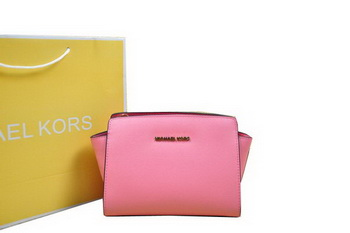 Michael Kors Mini Selma Messenger Bag Pink