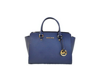 Michael Kors Selma Top-Zip Satchel Bag MK1990 RoyalBlue