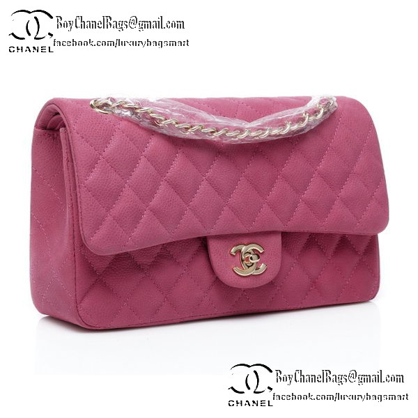 Chanel Classic Flap Bag 2.55 Series Original Nubuck Cannage Pattern CHA1112 Peach