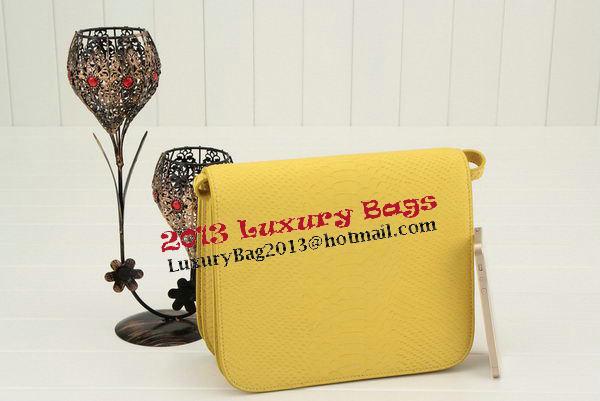 Celine Classic Box Small Flap Bag Smooth Leather 11042 Lemon