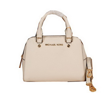 Michael Kors Original Saffiano Leather Top Handle Bag MK2603 OffWhite