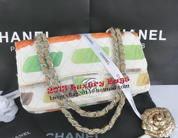 Chanel 2.55 Series Classic Flap Bag Canvas CHA90261 Green