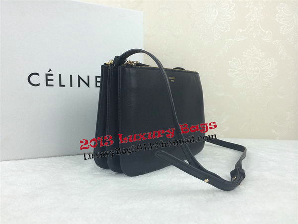 Celine Trio Original Leather Shoulder Bag C98317 Black