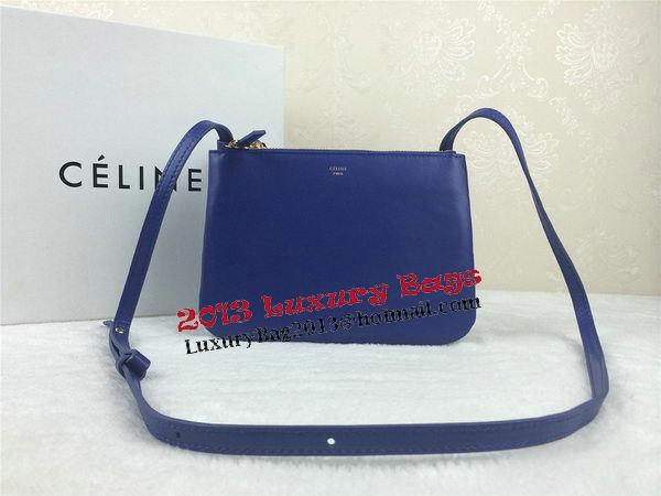 Celine Trio Original Leather Shoulder Bag C98317 Blue