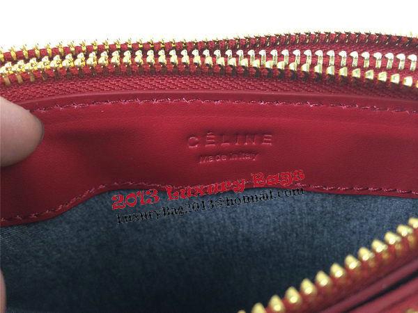 Celine Trio Original Leather Shoulder Bag C98317 Burgundy