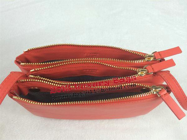 Celine Trio Original Leather Shoulder Bag C98317 Orange