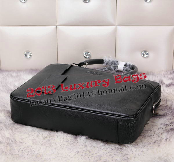 Prada Grainy Leather Briefcase VA0308 Black