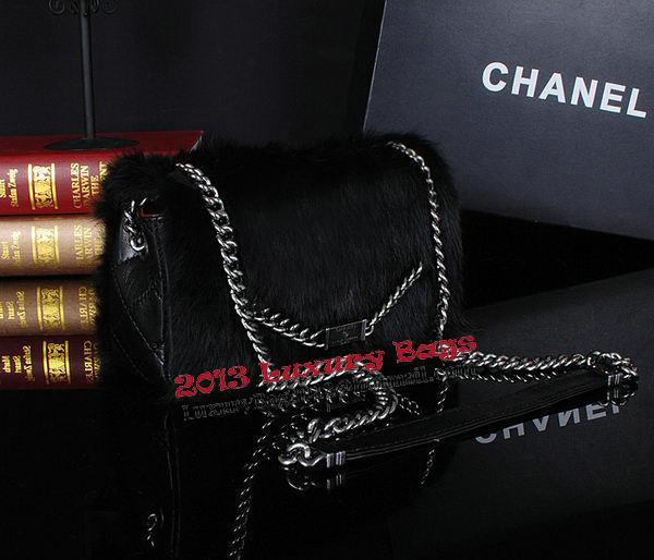 Chanel Cony Hair Flap Bags A92592P Black