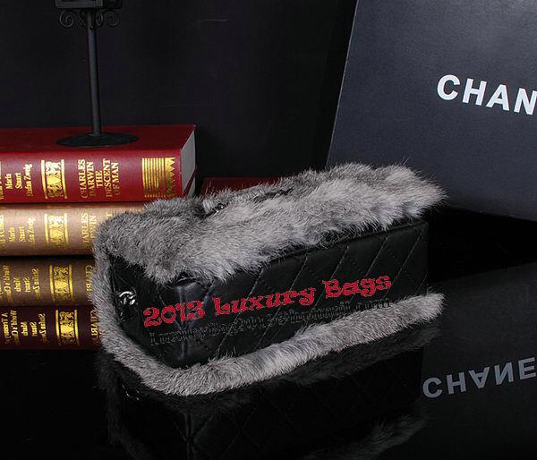 Chanel Cony Hair Flap Bags A92592P Deep Grey