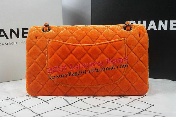 Chanel 2.55 Series Classic Flap Bag Original Nubuck Leather CF1112 Orange