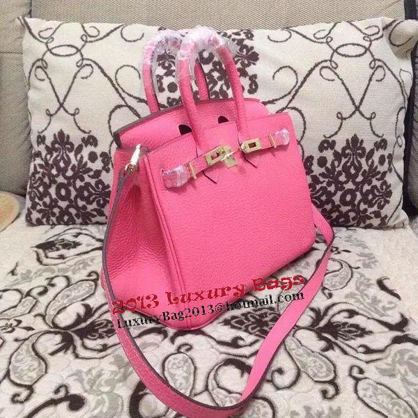 Hermes Birkin 25CM Tote Bag Original Leather H25 Pink