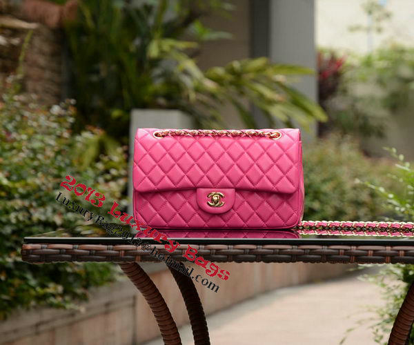 Chanel 2.55 Series Flap Bag Rose Sheepskin Leather A37586 Gold