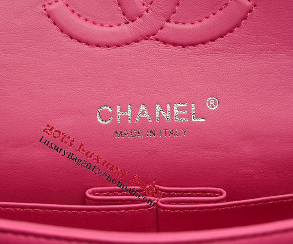 Chanel 2.55 Series Flap Bag Rose Sheepskin Leather A37586 Silver