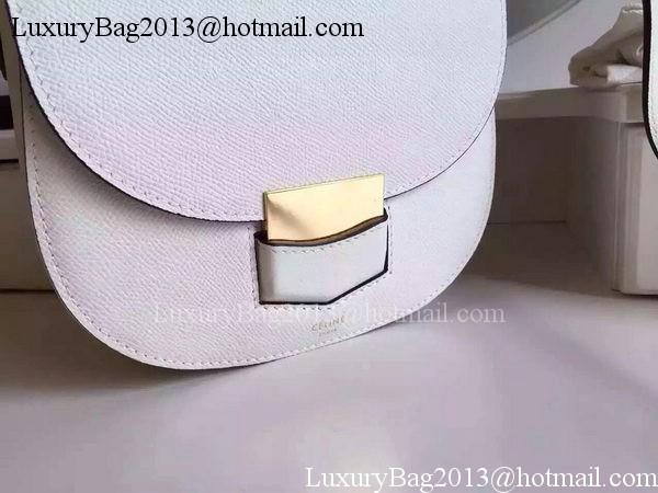 Celine Trotteur Bag Litchi Leather CTA4298 White