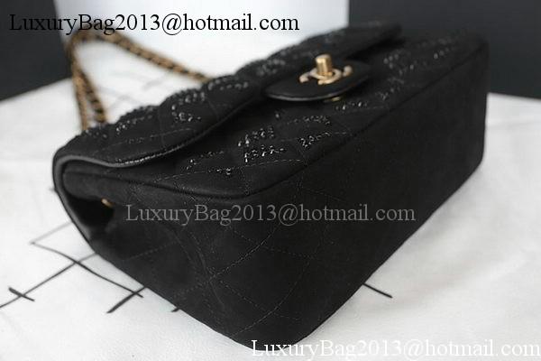 Chanel 2.55 Series Flap Bag Diamond Leather A1112CF Black