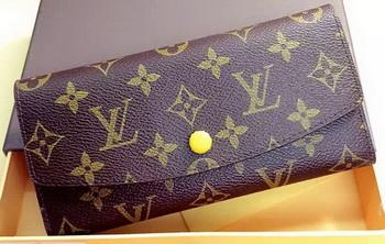 louis vuitton yellow wallet. louis vuitton monogram canvas emilie wallet rouge m60136 yellow