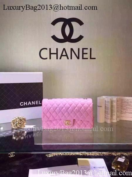 Chanel 2.55 Series Flap Bag Black Sheepskin Leather A5016 Pink