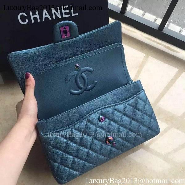 Chanel 2.55 Series Double Flap Bag Original Lambskin Leather A1112 Blue