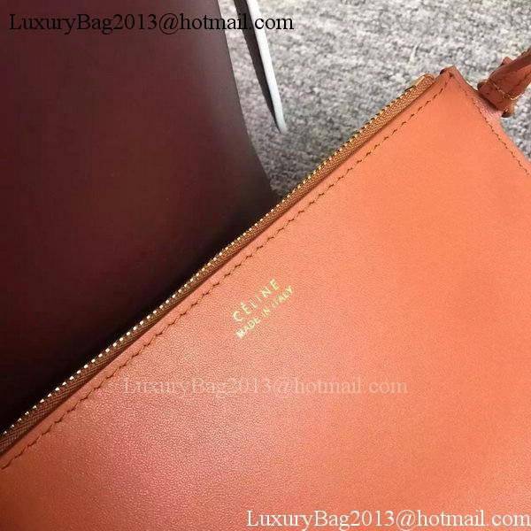 CELINE Twisted Cabas Bag C16211 Brown&Orange
