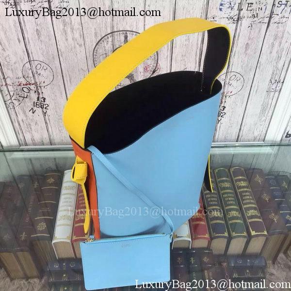CELINE Twisted Cabas Bag C16211 SkyBlue&Orange