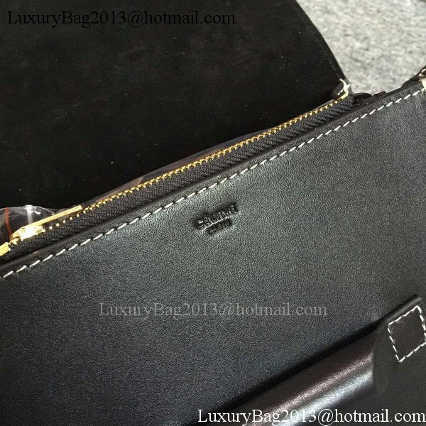 Celine TAB Trotteur Bag Calfskin Leather C77429 Black