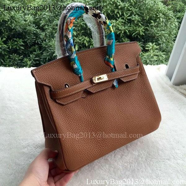 Hermes Birkin 25CM Tote Bag Litchi Leather H25T Brown