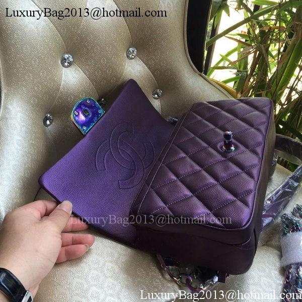Chanel 2.55 Series Flap Bag Original Lambskin A93133 Purple