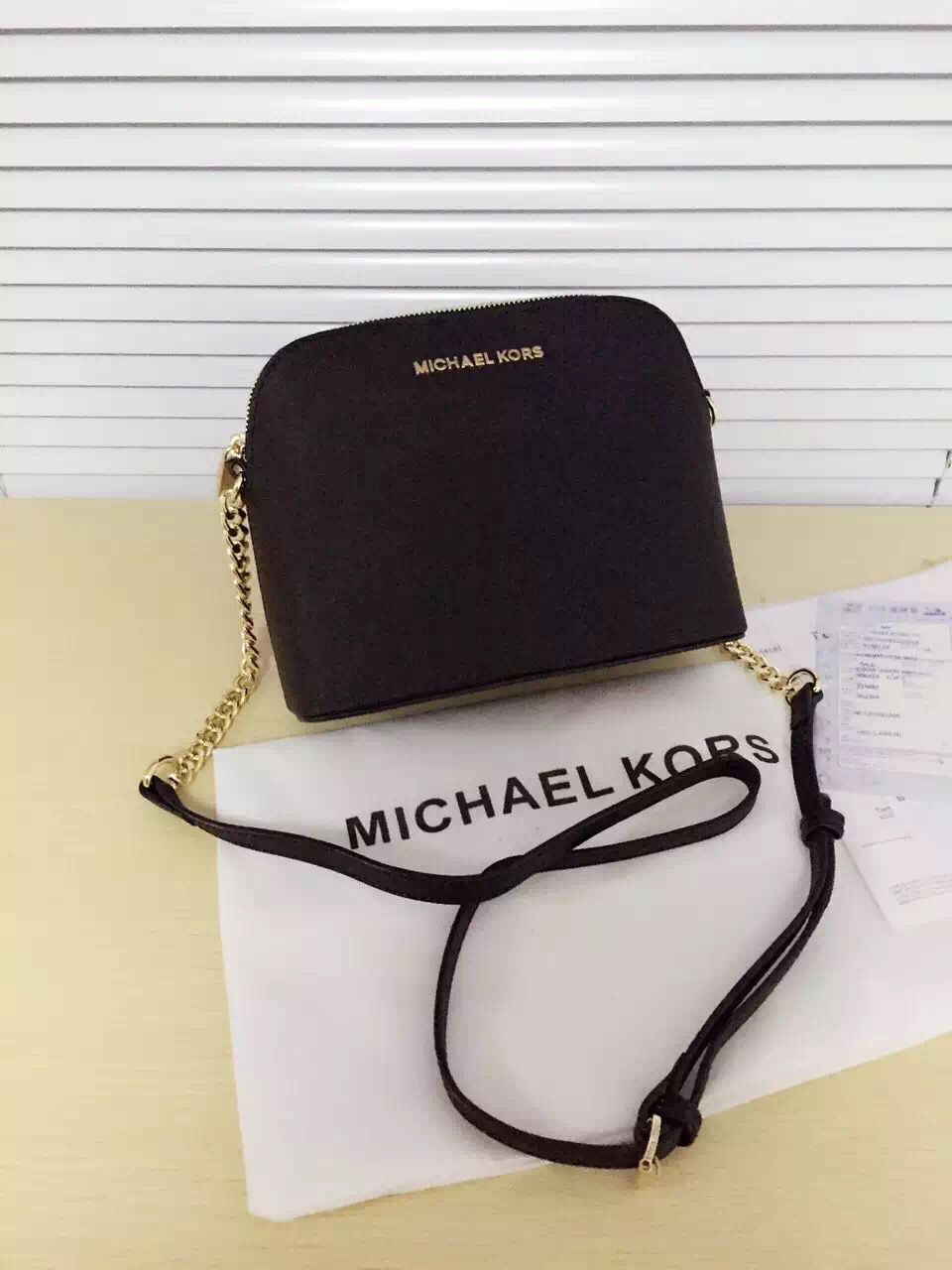 Michael Kors Original Saffiano Leather Top Handle Bag MK2608 Black